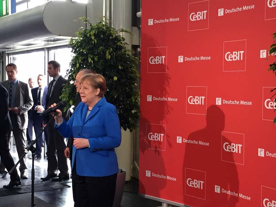 Cebit 2016Bundeskanzlerin Angela Merkel